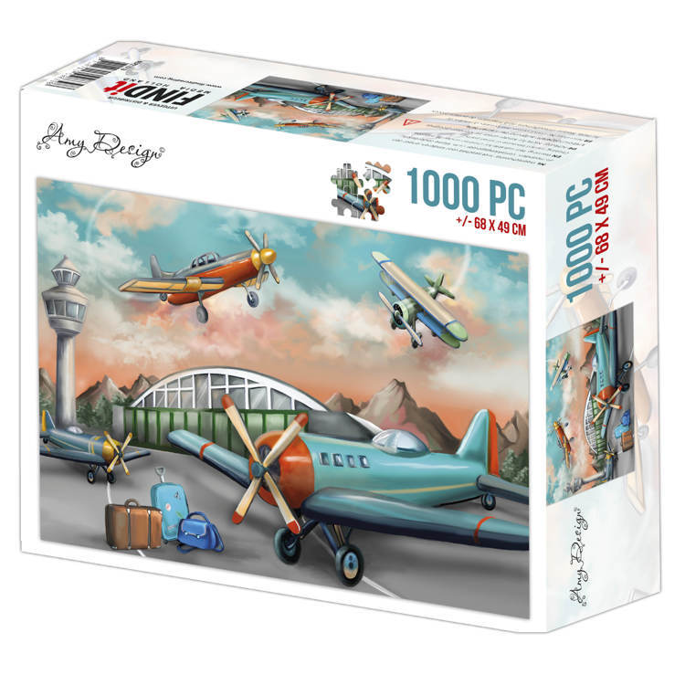 ADPZ1013 Jigsaw puzzel 1000 pc - Amy Design - Planes
