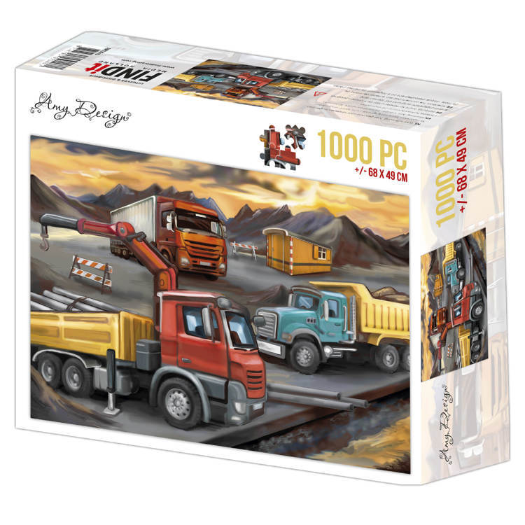 ADPZ1015 Jigsaw puzzel 1000 pc - Amy Design - Lorries