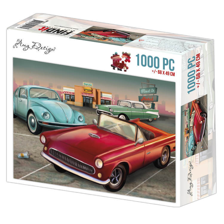 ADPZ1016 Jigsaw puzzel 1000 pc - Amy Design - Vintage Cars